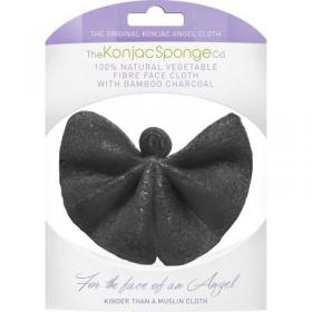 Σφουγγάρι προσώπου KONJAC ANGEL CLOTH WITH BAMBOO CHARCOAL