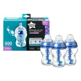 Anti-Colic Bottles Heat Sensing Baby Boy Feeding Bottle 260ml
