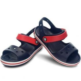 Crocband Sandal  Navy/red