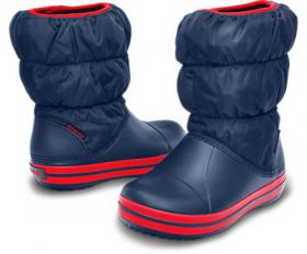 Winter Puff Boot Navy-Red