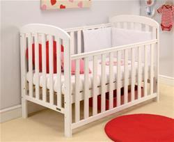 Anna Drop Side Cot - White