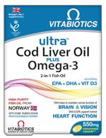 ULTRA 2 in 1 COD LIVER OIL Capsules