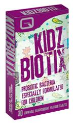 KIDZBIOTIX providing 2 billion probiotic bacteria
