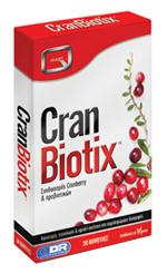 CRANBIOTIX with Cranberry extract and 2 billion L.acidophilus, L.rhamnosus & L.casei