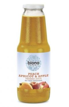 Organic Juice - Peach, Apricot & Apple - 1lt